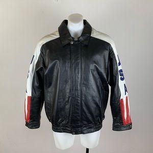 Oscar Piel USA Vintage Leather Jacket